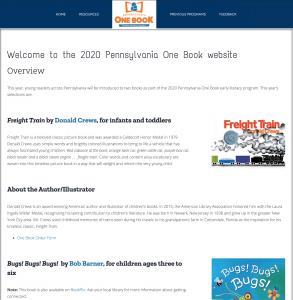 2020 Pennsylvania One Book