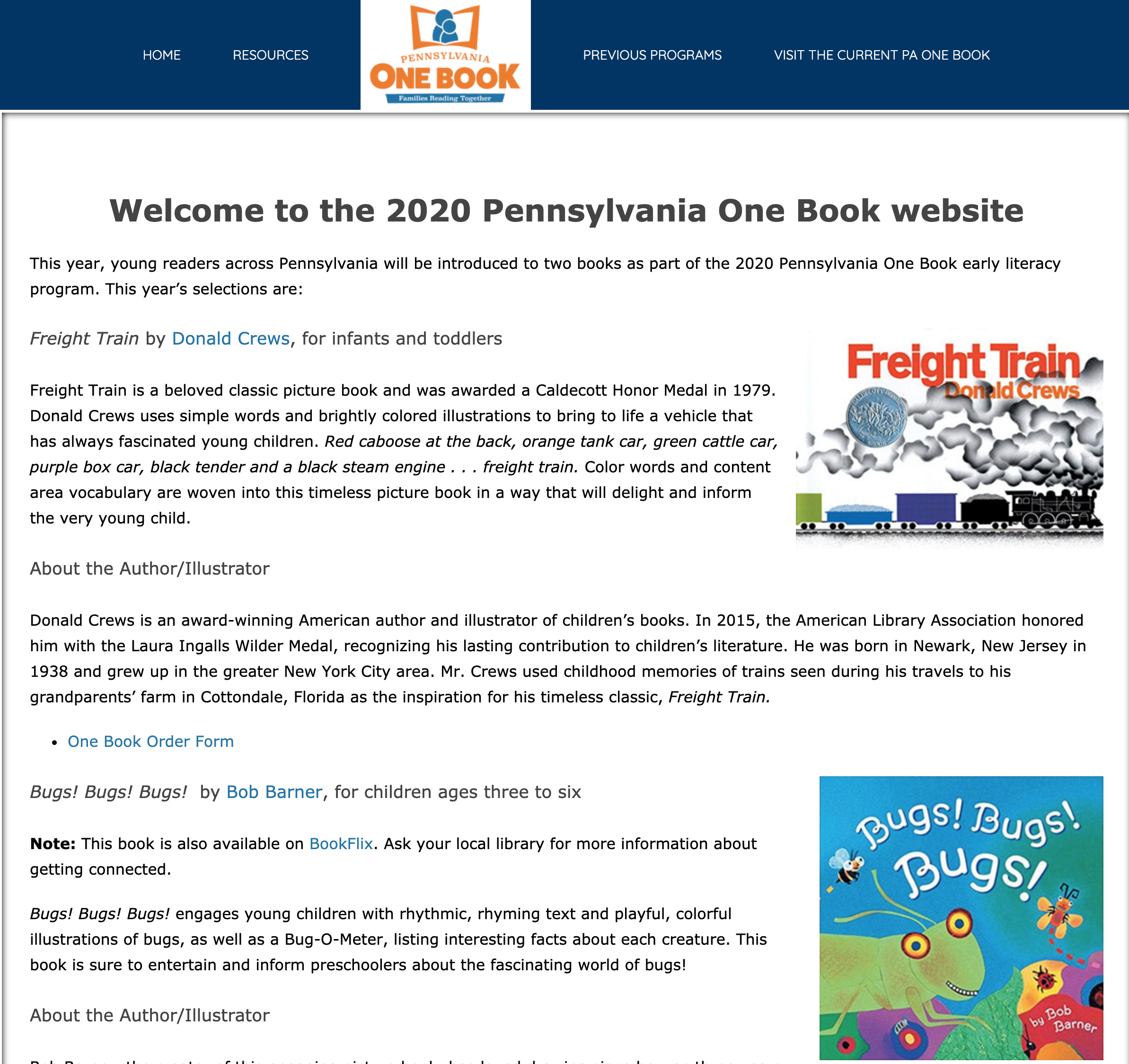 2020 PA One Book